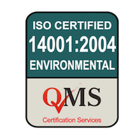 ISO 14001:2004 Environmental Management Certified