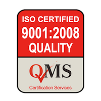 ISO 9001:2008 Quality Management Systems Certified