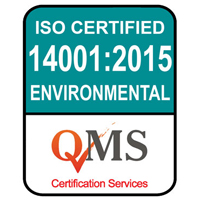 ISO 14001:2015 Environmental Management Certified