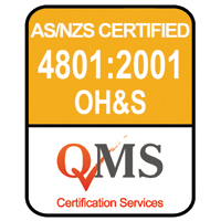 AS/NZS 4801:2001 Occupational Health and Safety Management Certified