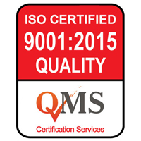 ISO 9001:2015 Quality Management Systems Certified